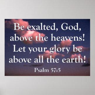 Poster do 57:5 do salmo
