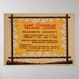 Poster do acampamento de WPA do vintage