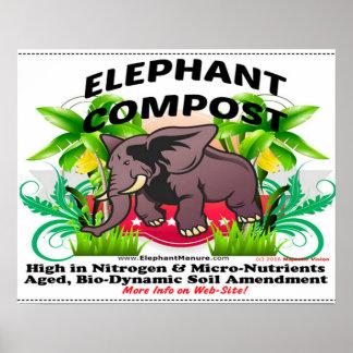 Poster do adubo do elefante