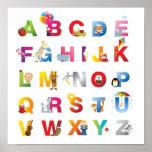 poster do alfabeto das crianças