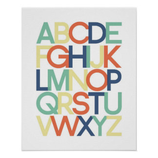 Poster do alfabeto pôster