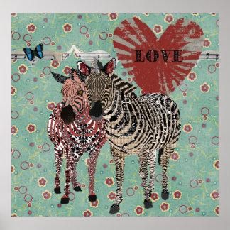 Poster do amor de Zeb & de Zenya