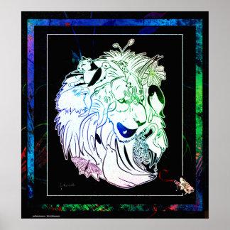 Poster do animal dos animais selvagens