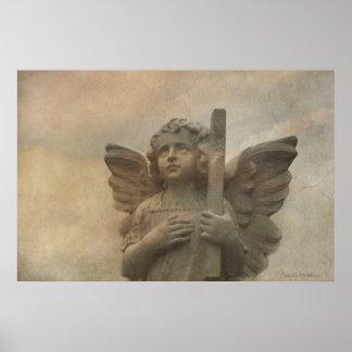 Poster do anjo do vintage pôster