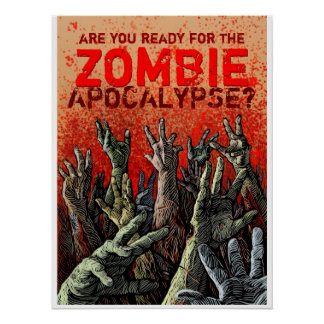 Poster do apocalipse do zombi pôster