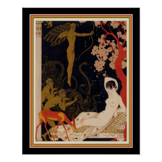 "Pôster Do ""art deco 16 x 20 de Helene do Belle La"" 1922"