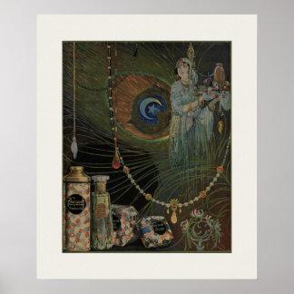 Poster do art deco de Nouveau do mirtilo