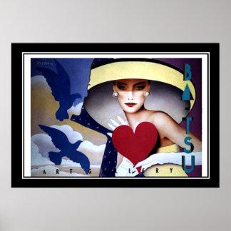 Poster do art deco do vintage