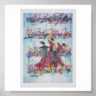 """Pôster Do """"arte"""" do """"poster afro-americano da dança jazz"""