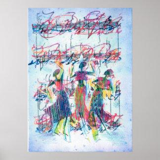 """Poster Do """"arte"""" do """"poster afro-americano da dança jazz"""