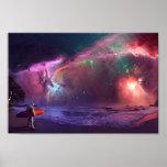 Poster do astronauta da nebulosa