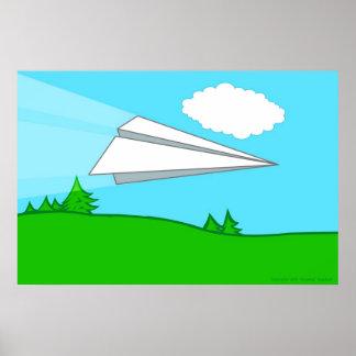 Poster do avião de papel