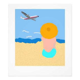 Poster do avião de passageiros do vintage impressão de foto