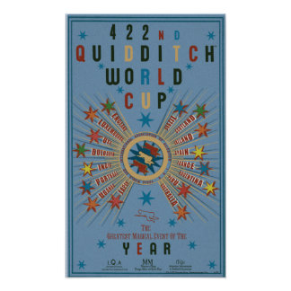 Poster do azul do campeonato do mundo de Quidditch Pôster
