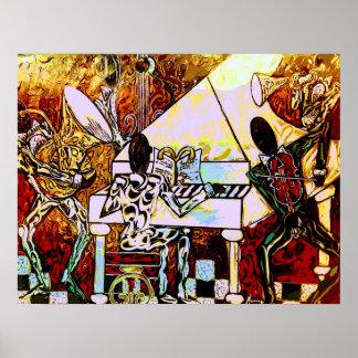 """Poster Do """"banda de jazz do """"carnaval"""" da arte"""""""