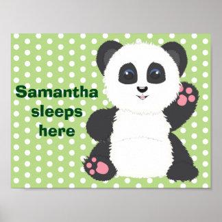 Poster do berçário da panda pôster