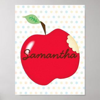 Poster do berçário de Apple com nome Pôster