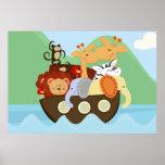 Poster do berçário do bebê da arca de Noah