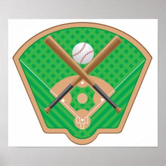 Poster do campo de basebol pôster
