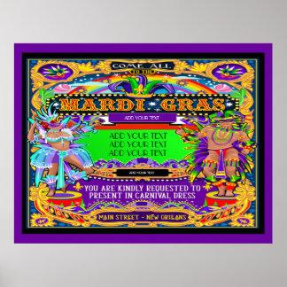 Poster do carnaval a ser personalizado