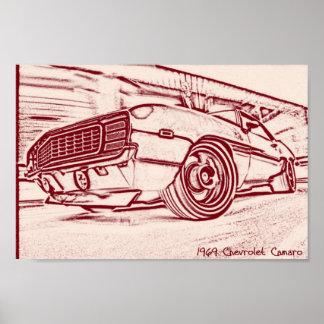 Poster do carro do músculo pôster
