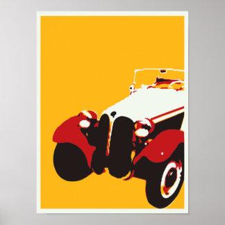 Poster do carro vintage pôster