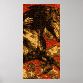 "Poster do ""cavaleiro"" (mosaico de todo o"
