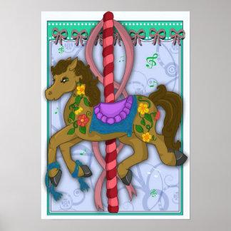 Poster do cavalo do carrossel