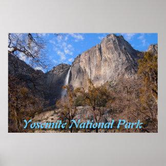 Poster do cenário do parque nacional de Yosemite