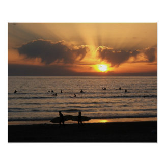 Poster do céu do surf pôster