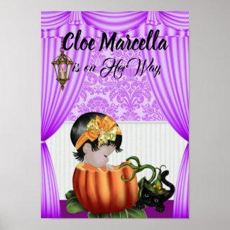 Poster do chá de fraldas do outono