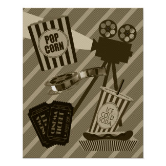 Poster do cinema do vintage