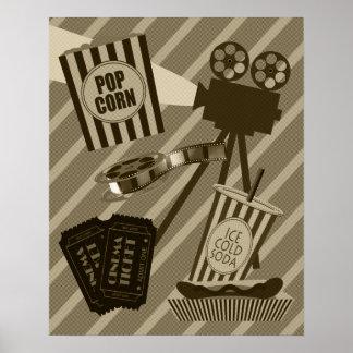Poster do cinema do vintage pôster