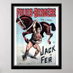 Poster do circo do vintage do homem forte de Jack