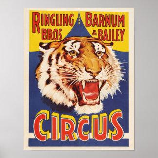 Poster do circo dos irmãos de Ringling