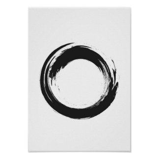 Poster do círculo do zen da aguarela pôster