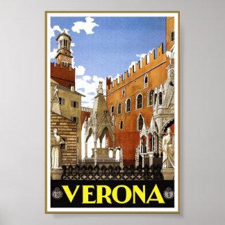 Poster do clássico do viagem da arte de Verona