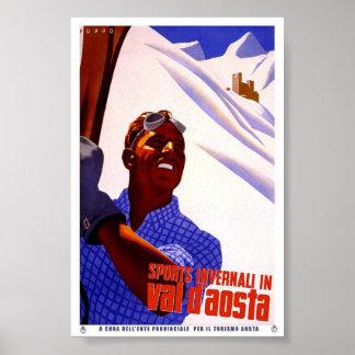 Poster do clássico do viagem de Valle D'Aosta