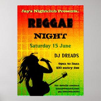 Poster do clube nocturno do partido da noite da