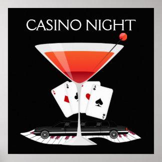 Poster do cocktail da noite do casino - SRF