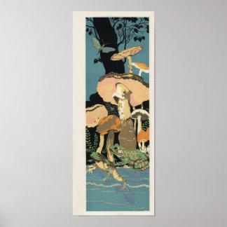 Poster do cogumelo do sapo do sapo de Deco