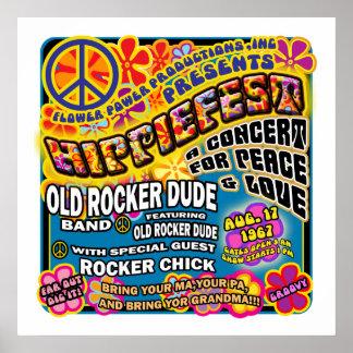 Poster do concerto de Hippiefest