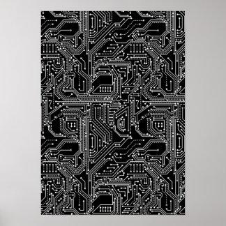 Poster do conselho de circuito do computador