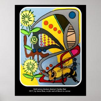 """Poster Do """"da abelha abstrata do jardim da modificação"""
