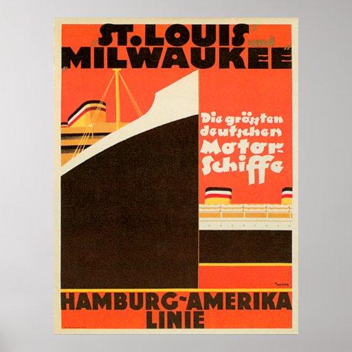 Poster do ~ de Hamburgo-América Linie