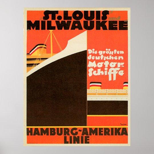Poster do ~ de Hamburgo-América Linie Pôster