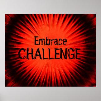 Poster do desafio do abraço
