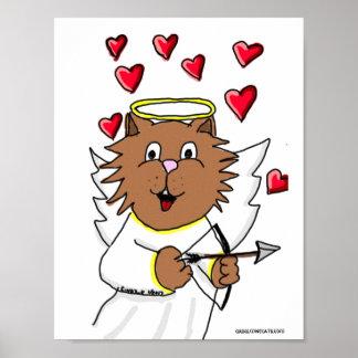 Poster do desenho do Cupido do gato