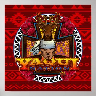 Poster do design do dançarino dos cervos de Yaqui