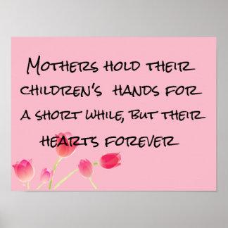 poster do dia das mães dos corações das crianças